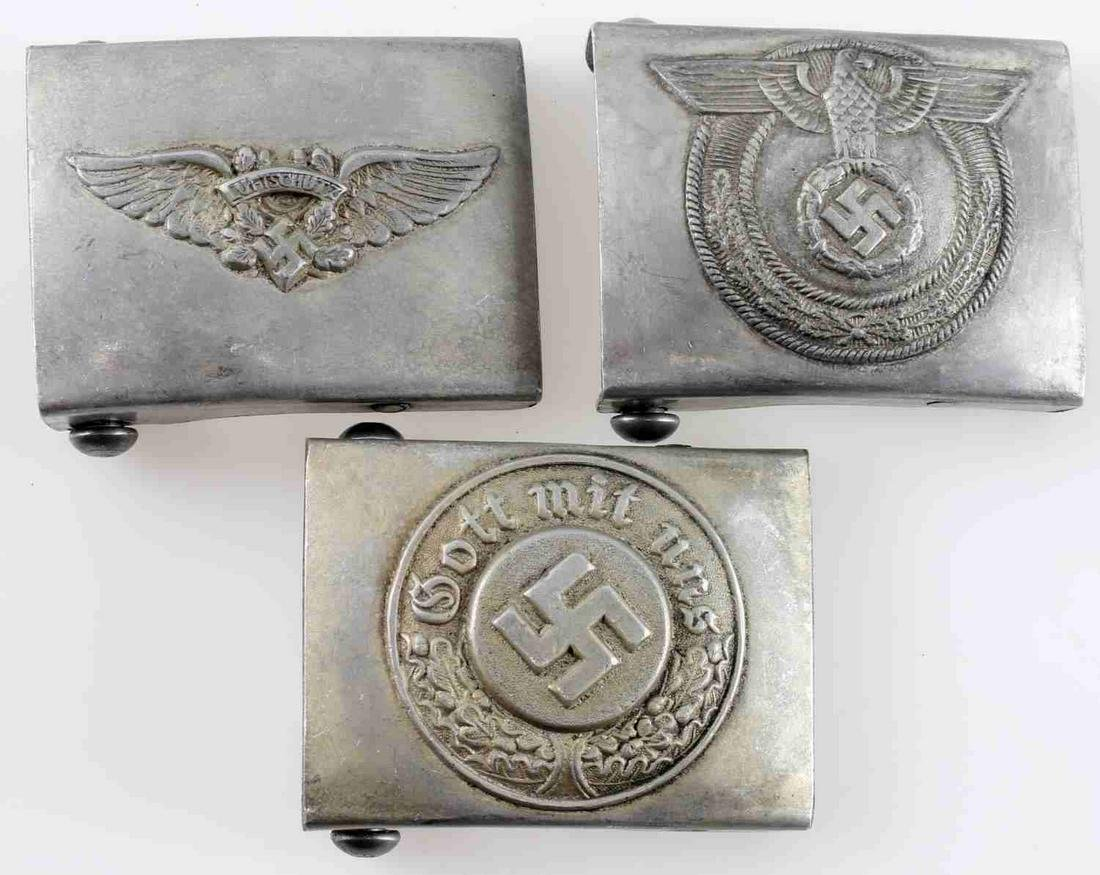 WWII GERMAN THIRD REICH BELT BUCKLE LOT OF 3