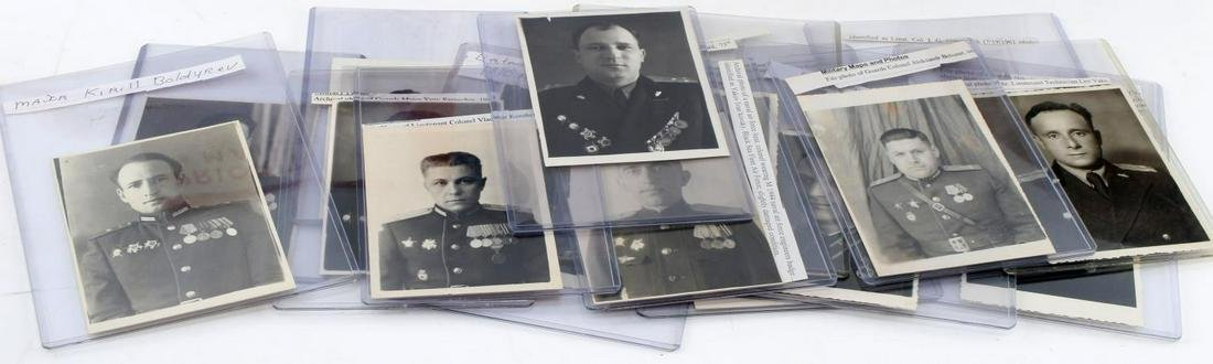 LOT OF 15 PHOTOS OF SOVIET OFFICERS WWII COLD WAR