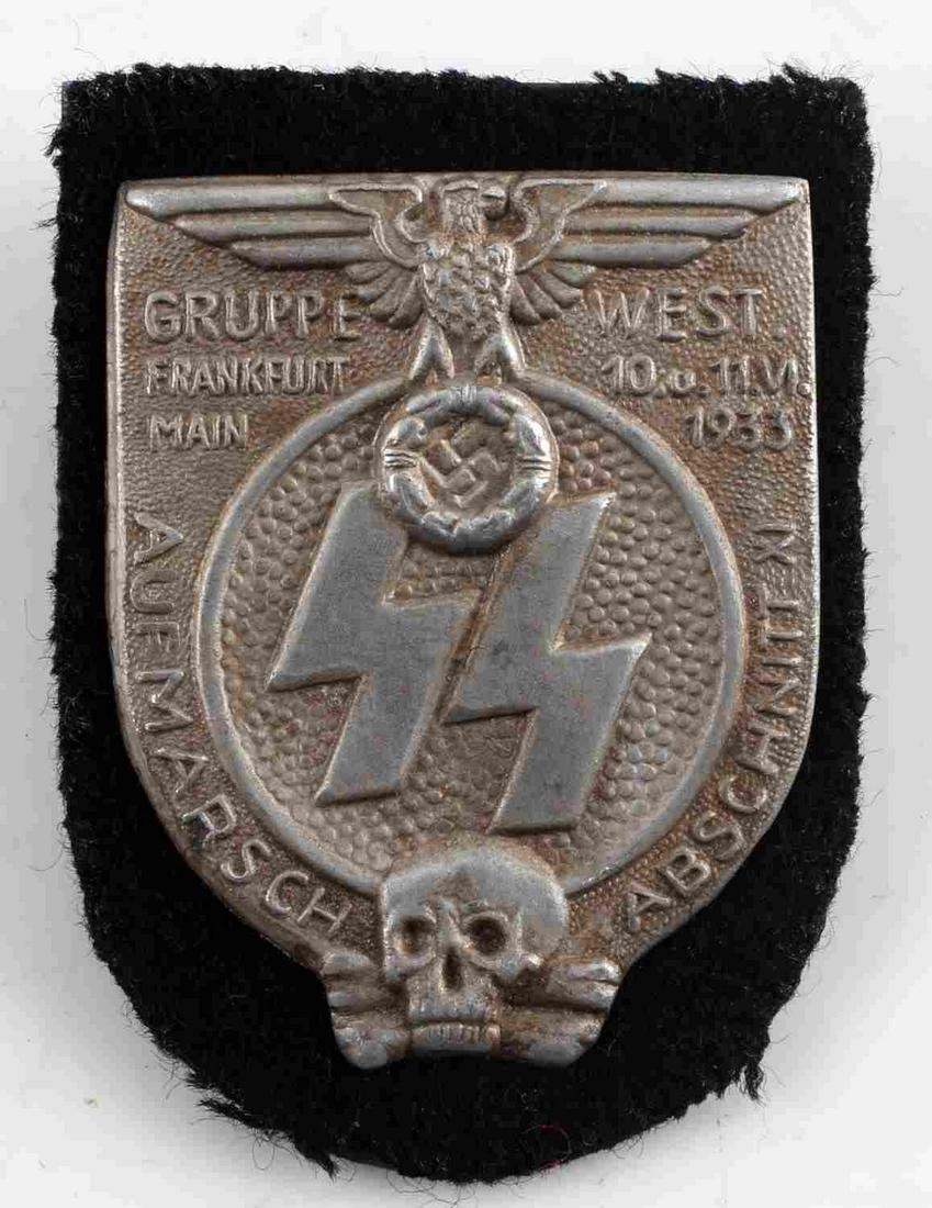 WWII GERMAN THIRD REICH SS GRUPPE WEST SHIELD