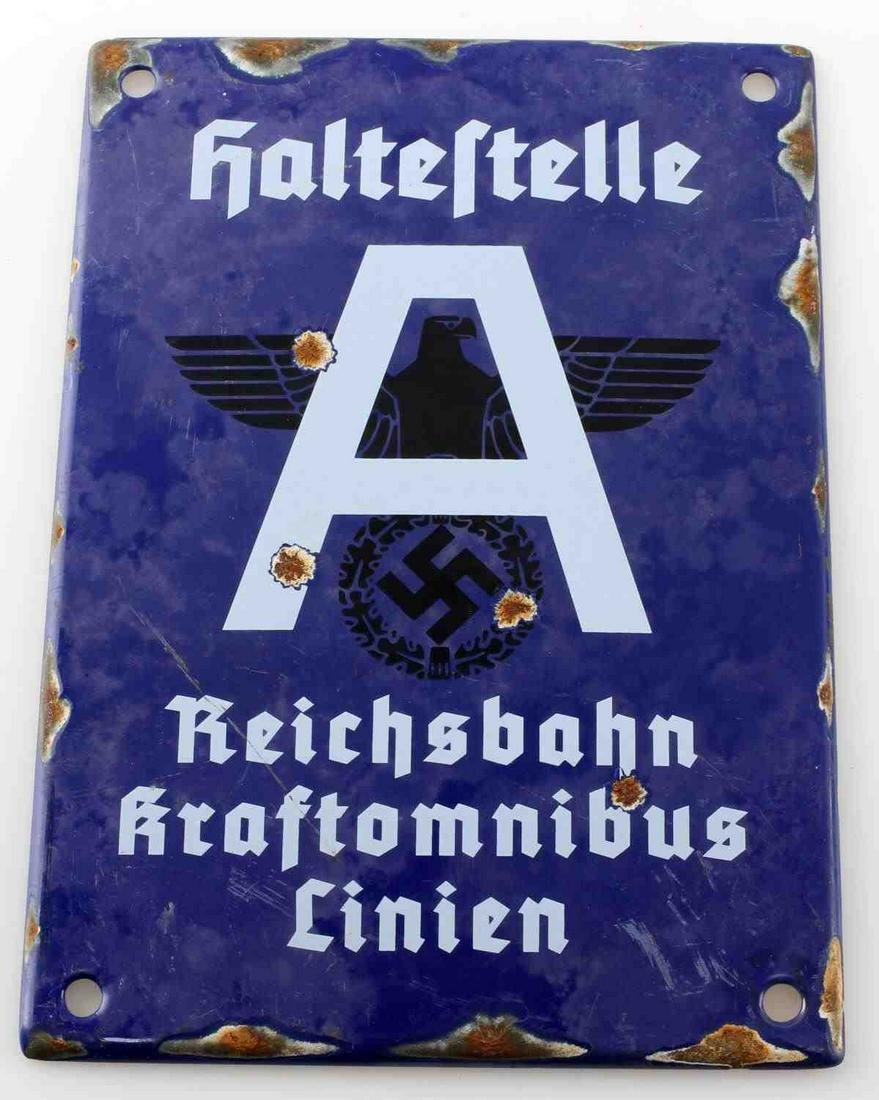 WWII GERMAN THIRD REICH REICHSBAHN (RAIL) PLAQUE