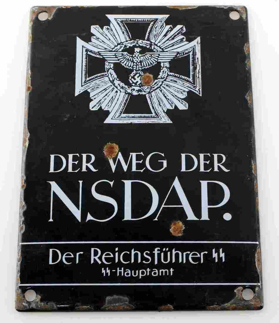 WWII GERMAN 3RD REICH SS OFFICE (HAUPTAMT) PLAQUE
