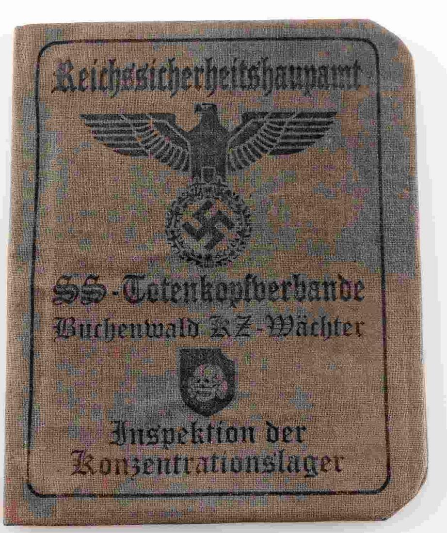 WWII GERMAN SS BUCHENWALD INSPECTOR AUSWEIS ID
