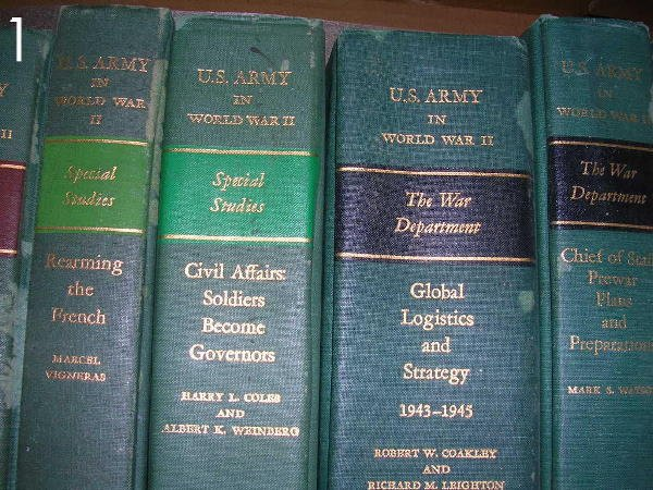1: BOX LOT - US ARMY IN WWII BOOKS