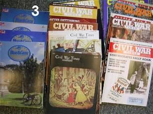 CIVIL WAR MAGAZINE LOT OF 150-200 MID 1980'S