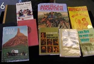 WESTERN BOOK LOT AMERICAN FRONTIER BUFFALO BILL ETC.