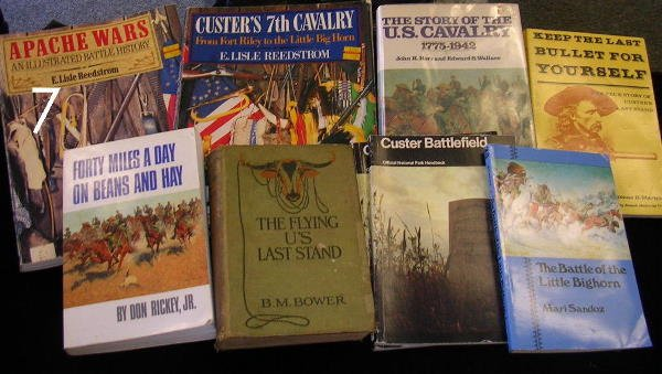 7: HISTORY BOOK LOT 10 CUSTER AMERICAN INDIAN WARS ETC