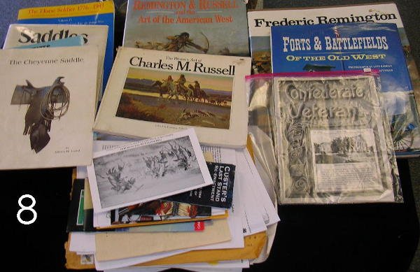 8: HISTORY BOOK LOT OF 7 REMINGTON RUSSELL SADDLES ETC