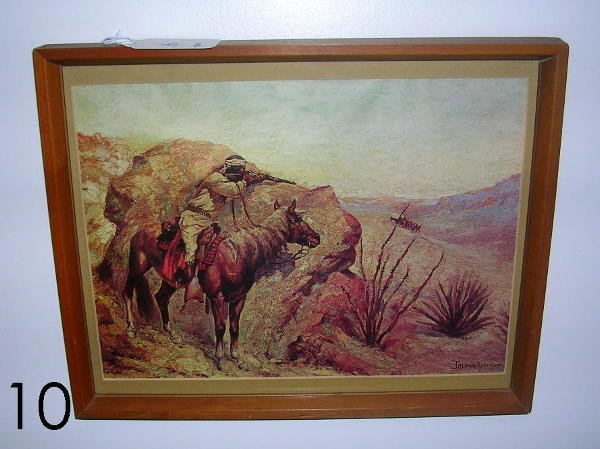 10: FREDERIC REMINGTON PRINT THE APACHE FRAMED 12x15