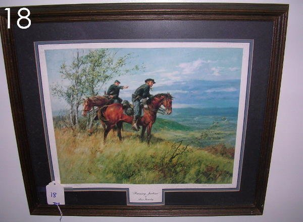 18: ALAN FEARNLEY PRINT PURSUING JACKSON 1988 FRAMED