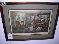 56: CURRIER & IVES PRINT TROTTING CRACKS AT THE FORGE