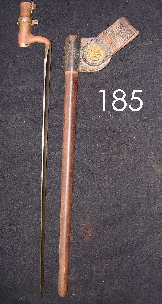 185: US ARMY 1870 SPRINGFIELD TRAPDOOR SOCKET BAYONE