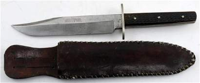 J RODGERS AND SONS SHEFFIELD BOWIE KNIFE 7 INCH