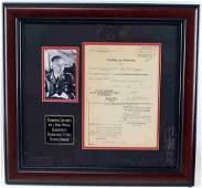 WWII GERMAN THIRD REICH HIMMLER SIGNED DOCUMENT