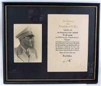 WWII GERMAN THIRD REICH GORING SIGNED PROMOTION