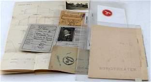 WWII GERMAN THIRD REICH EPHEMERA LETTERS & DOCUMEN