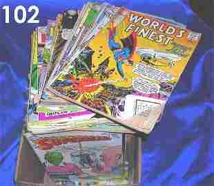 LOT OF 50 GOLDEN & SILVER AGE COMIC BOOKS SUPERMAN