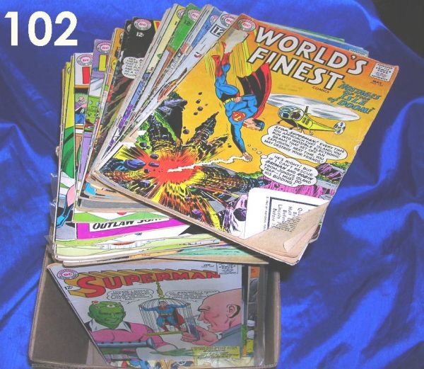 102: LOT OF 50 GOLDEN & SILVER AGE COMIC BOOKS SUPERMAN