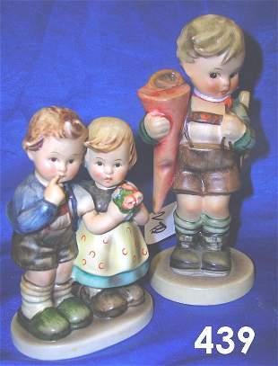 LOT OF 2 GOEBEL HUMMELS LITTLE SCHOLAR + GIRL