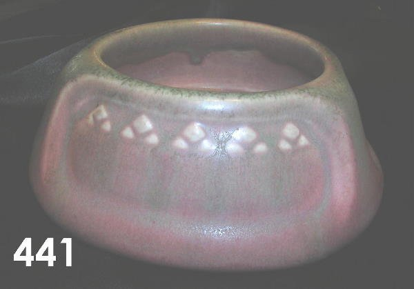 441: ROOKWOOD POTTERY PINK TO GREEN 1917 BOWL 1188
