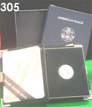 US 2004 PLATINUM AMERICAN EAGLE COIN 1/10 OZ PROOF