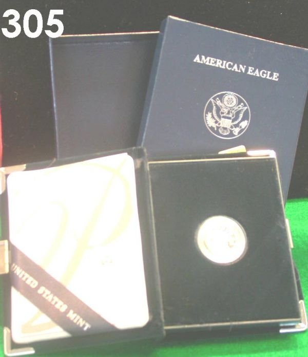 305: US 2004 PLATINUM AMERICAN EAGLE COIN 1/10 OZ PROOF