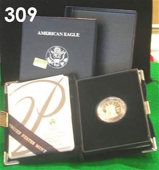 US 2004 PLATINUM PROOF AMERICAN EAGLE 1/4 OZ