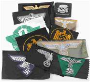 WWII GERMAN THIRD REICH CLOTH INSIGNIA GROUP
