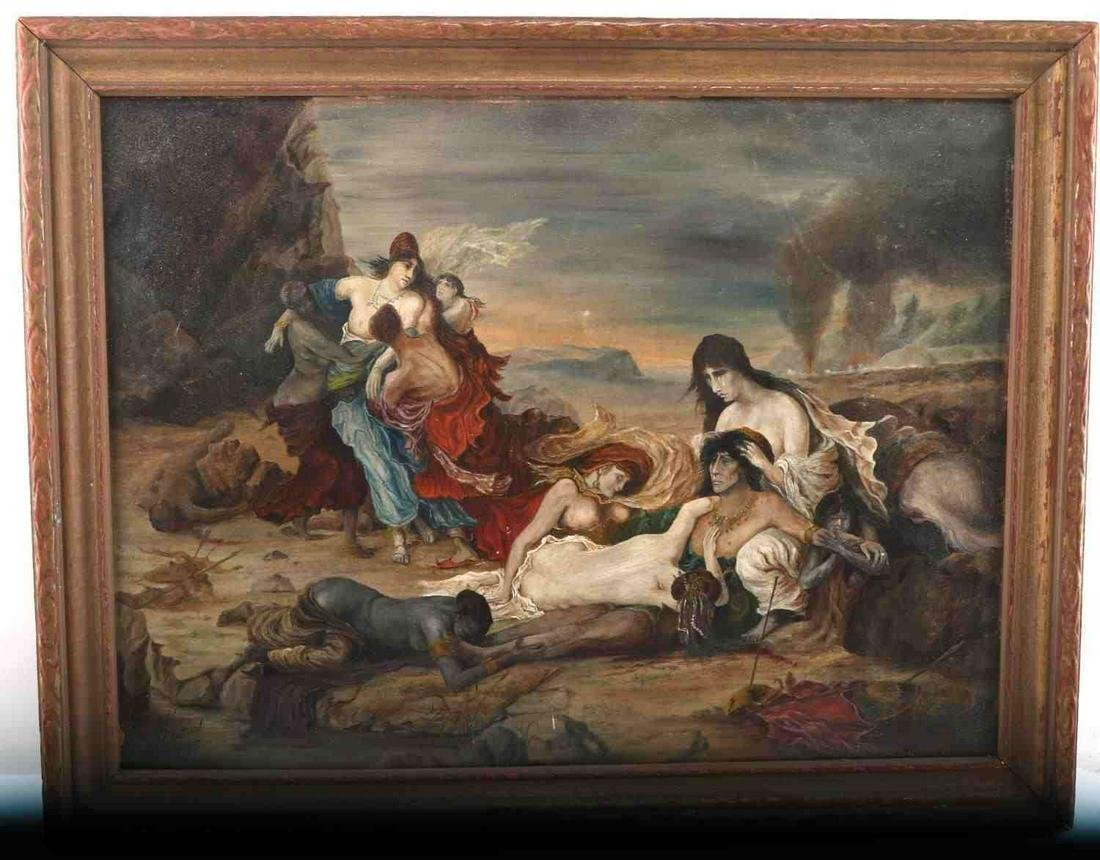 DEATH OF RAVANA PAINTING AFTER FERNAND CORMON