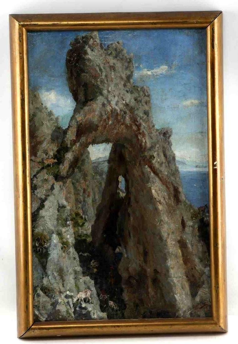 KARL (CARL) ODERICH OIL ON CANVAS PAINTING CAPRI