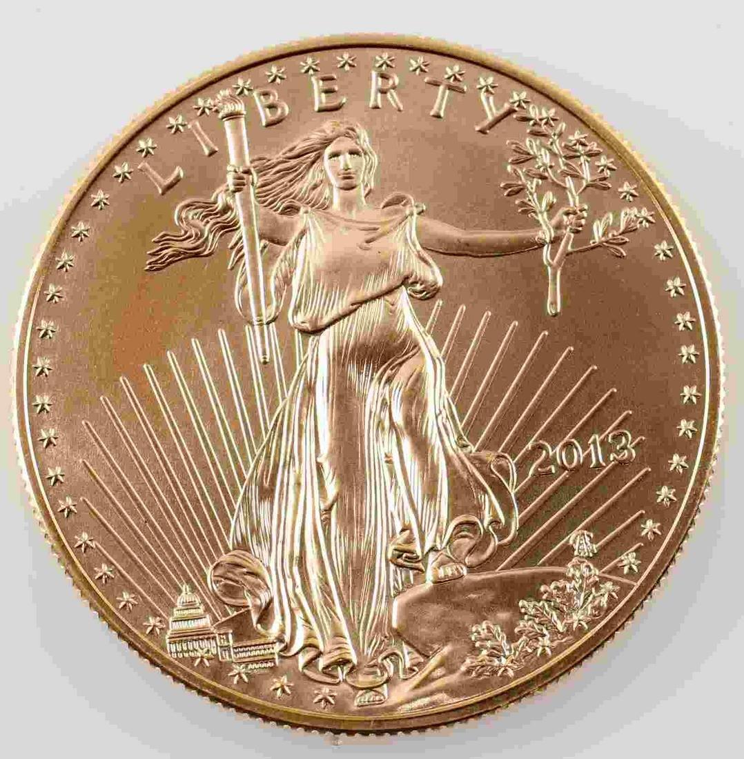 2013 AMERICAN GOLD EAGLE $50 1 OZT BULLION COIN
