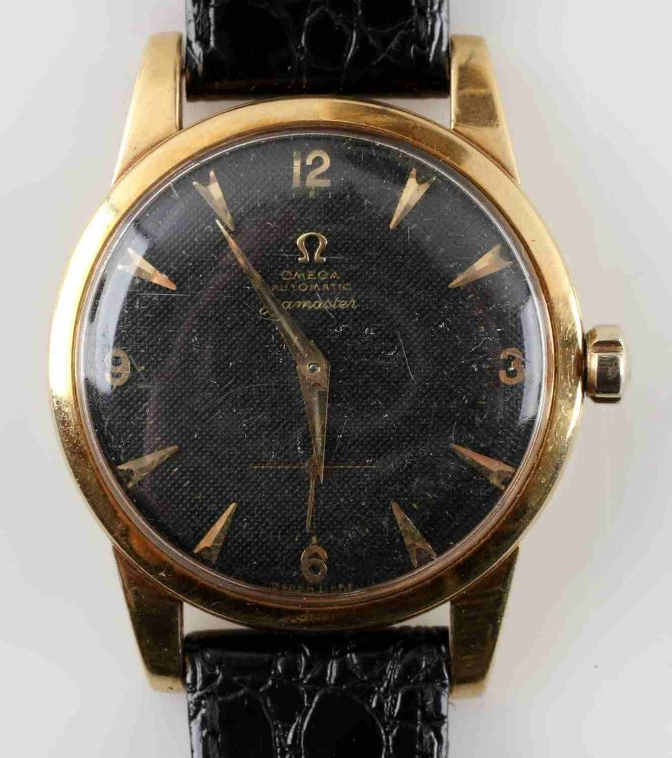18K VINTAGE OMEGA AUTOMATIC SEAMASTER MENS WATCH