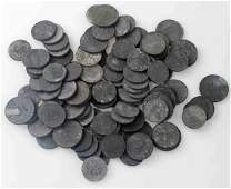103 WWII GERMAN THIRD REICH SWASTIKA PFENNIG COINS
