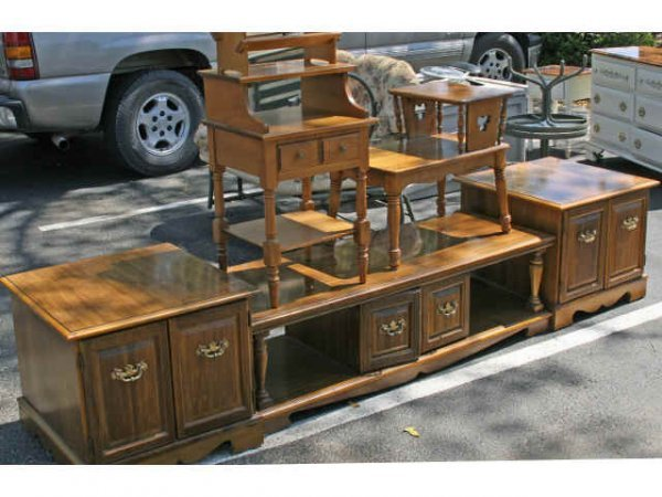 WOODEN COFFEE TABLE ENDS DESK PHONE TABLE