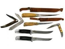 FISHING FILET KNIFE LOT BUCK MARTIIN SCHRADE NIB