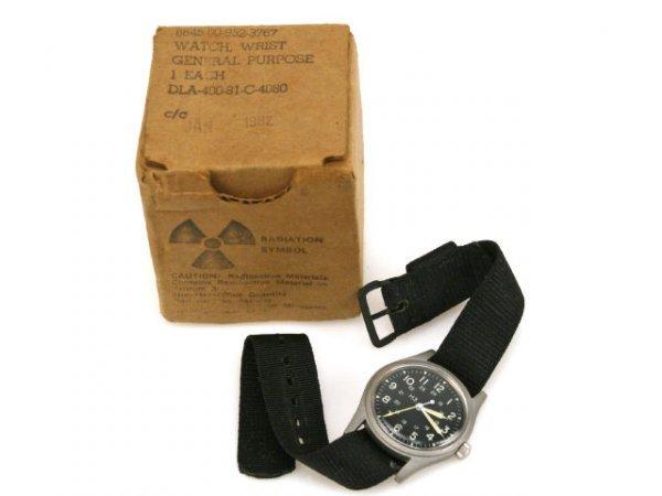 HAMILTON MILITARY WATCH 1981 MINT IN BOX