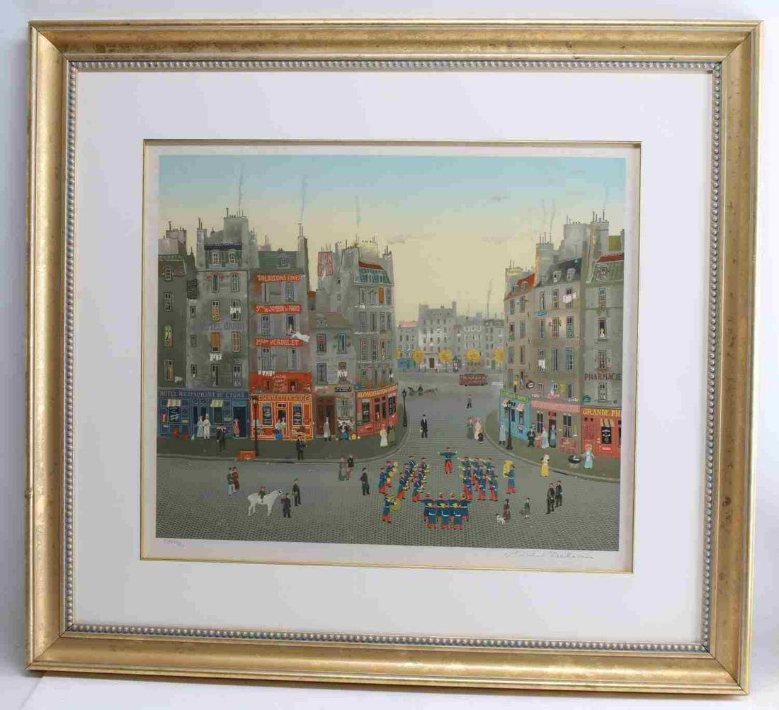 SIGNED & NUMBERED MICHEL DELACROIX LITHOGRAPH
