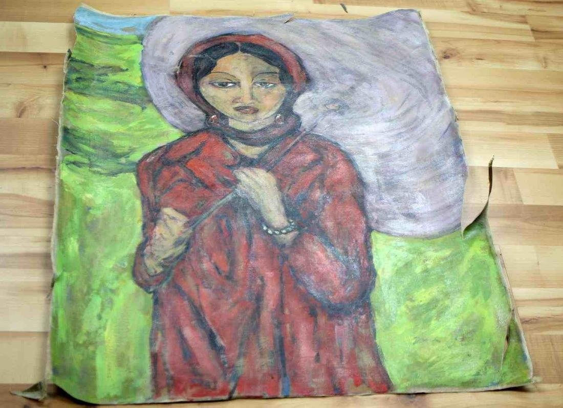 ATTR IRMA STERN 1945 SOUTH AFRICAN OIL PAINTING