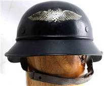 WWII GERMAN THIRD REICH BEADED LUFTSCHUTZ HELMET