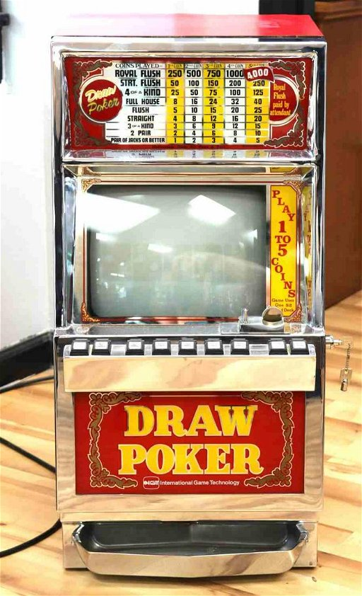 Fully Working Draw Poker Machine 1981 Jan 02 2020 Affiliated Auctions In Fl