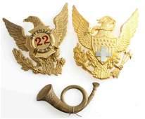 19TH CENTURY US MILITARY SHAKO HAT CAP INSIGNIA