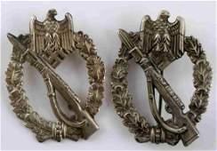 WWII GERMAN THIRD REICH INFANTRY ASSAULT BADGE LOT