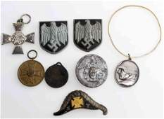 WWI WWII GERMAN MILITARY BADGE LOT OF EIGHT
