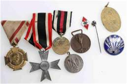 WWII GERMAN THIRD REICH MEDAL BADGE LOT OF NINE