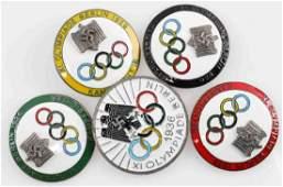 GERMAN THIRD REICH 1936 BERLIN OLYMPICS BADGE LOT