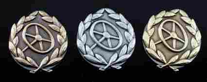 WWII THIRD REICH GERMAN DRIVERS QUALIFICATION PINS