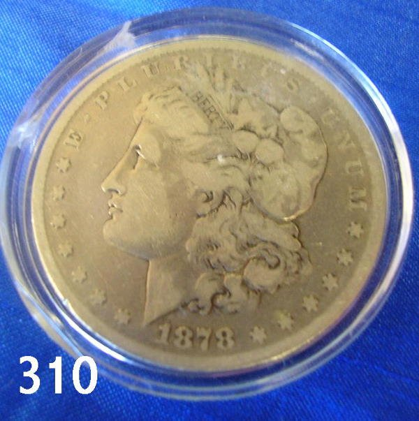 40310: US 1878 CARSON CITY MORGAN DOLLAR VG
