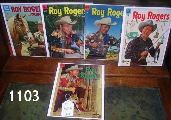 401103: ROY ROGERS AND TRIGGER COMIC BOOKS DELL LOT OF