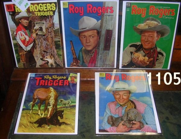 401105: ROY ROGERS AND TRIGGER COMIC BOOKS DELL LOT OF