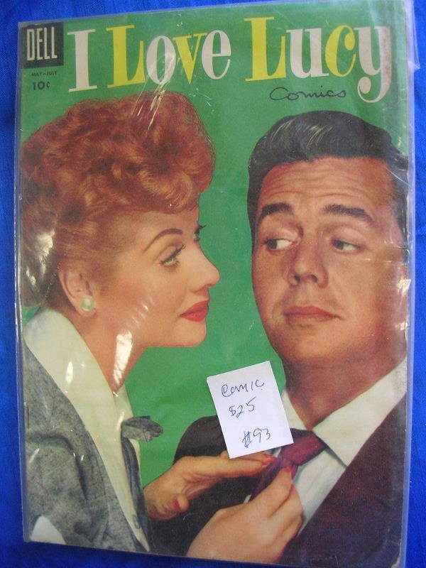40225: VINTAGE I LOVE LUCY COMIC BOOK LOT 3 LUCILLE BAL