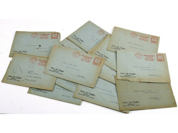 WWII 1939 DATED GERMAN LETTER COVERS